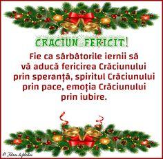 Fie ca sărbătorile iernii să vă aducă fericirea Crăciunului prin speranță, spiritul Crăciunului prin pace, emoția Crăciunului prin iubire. An Nou Fericit, Christmas Wreaths, Christmas Tree, Diy And Crafts, Holiday Decor, Beautiful, Smileys, Holidays, Motto