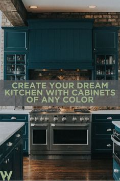 Let your kitchen reflect your style by adding pops of color! With so many options to choose from, we certainly have the color for you! Custom Kitchen Cabinets, Kitchen Cabinet Colors, Custom Kitchens, Kitchen Colors, Kitchen Appliances, Cabinets Online, Contemporary Kitchen Design, Home Decor, Style