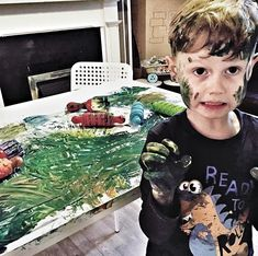 CREATIVE LEARNING _______________ This was a year ago today! We called it creative learning... creatively learning that if you make a mess like this you'll need to creatively clean it up! 😬  _______________ Have you had any playtime, learning ti