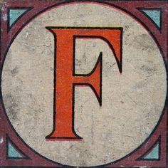 Vintage Brick Letter F | Flickr - Photo Sharing!
