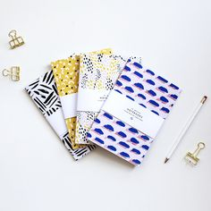 patterned notebooks | stationery design | the lovely drawer