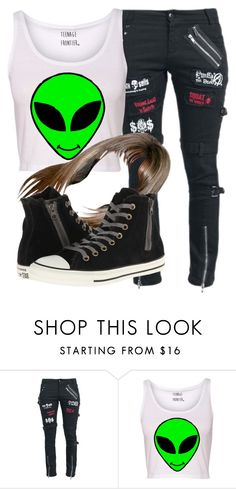 """""""Untitled #6190"""" by assexyaswesley ❤ liked on Polyvore featuring Converse"""