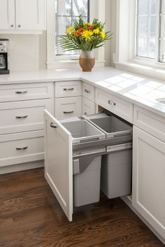 Pull-Out Garbage Drawer- double can
