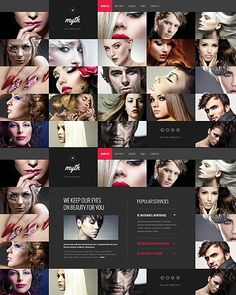 Template 46078 - Myth Hair Website Template