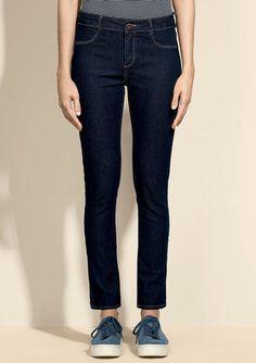 8ffa0cf33 Calça Jeans Feminina Com Barra Destroyed Degrau Special Denim