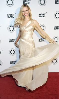 Karolina Kurkova in a Carlos Miele dress at the Prix Montblanc ball in Berlin