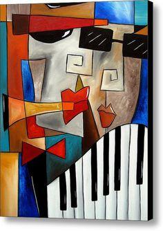 Darned Tootin - Original Cubist Art By Fidostudio Canvas Print / Canvas Art By Tom Fedro - Fidostudio
