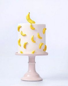 cake Banana birthday - Sweets From Down Under • A Subtle Revelry Pretty Cakes, Cute Cakes, Beautiful Cakes, Amazing Cakes, Cake Decorating Designs, Cake Designs, Banana Party, Monkey Birthday Parties, Birthday Sweets