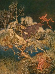 The nightmare, with her whole ninefold - The Legend of Sleepy Hollow by Washington Irving, 1928