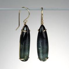 @QUADRUM - Jamie Joseph- Green Tourmaline Drop Earrings--Beautiful!  Love the dark green color.