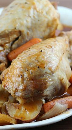 One Dish Slow Cooker Turkey Legs Supper