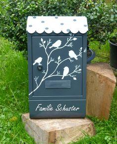 Briefkasten....Vögelein shabby von KirSchenrot via dawanda.com