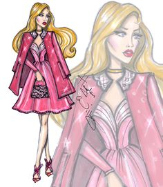 Hayden Williams Fashion Illustrations | Disney Diva Fashionistas by Hayden Williams: Aurora