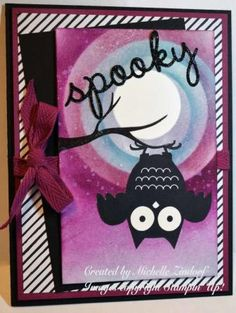 Spooky Owl - Stampin' Up! Card created by Michelle Zindorf