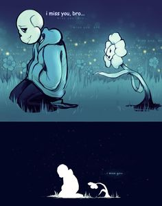[The Great Echo] I Miss You by deaderrose on DeviantArt Undertale Quotes, Undertale Flowey, Undertale Comic Funny, Undertale Pictures, Anime Undertale, Unicorn Drawing, Nose Drawing, Sad Comics, Final Fantasy Art