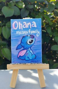 Adorable tiny Stitch. Ohana Means Family. From by DisneyObscura
