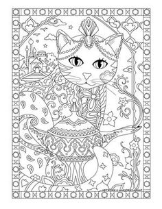 Aladdin Cat Pampered Pets Adult Coloring Book By Marjorie Sarnat Davlin Publishing