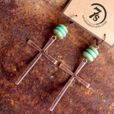 Sedona Earrings – copper, turquoise, and lightweight from Savannah Sevens Western Chic