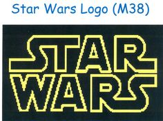 PDF Cross Stitch Pattern Star Wars Logo - Easy Beginners Pattern I should do this for my son!