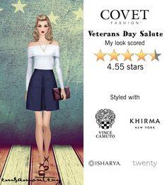 Veterans Day Salute @covetfashion #covet #covetfashion #covetfashionapp #fashion #womensfashion #covetwinter2015 #winter2015 #veteransdaysalute #vincecamuto #erinfetherston #twenty #khirma #ashleypittman #isharya #brooklynheavymetal