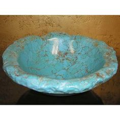 Image detail for -Turquoise Vessel Sink Arizona Turquoise Gemstone Vessel stone edge . Southwest Decor, Southwestern Style, Turquoise Gemstone, Turquoise Accents, Aqua, Teal, Stone Edging, Cherry Wood Floors, Native American Beauty