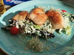 extrem der Ceasar Salat in Ungarn wie hier am Balaton.
