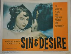 Lobby card for Sin and Desire with Francoise Arnoul Francoise Arnoul, French Vintage, Cinema, Film, Collection, Movie, Movies, Film Stock, Films