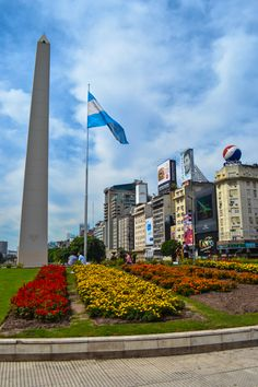 Buenos Aires, Argentina - The city's most famous monument, the Obelisk