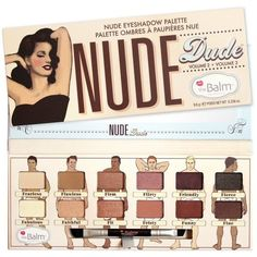 Nude Dude Nude Eyeshadow Palette (965 UAH) ❤ liked on Polyvore featuring beauty products, makeup, eye makeup, eyeshadow and palette eyeshadow