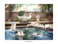 Fairy Print by Charlotte Bird   'Secret Places'   from the Tales from a secret garden series