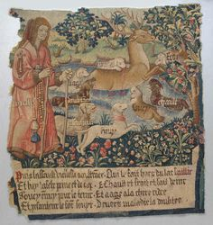 Old Age Drives the Stag out of a Lake and the Hounds Cold, Heat, Anxiety, Vexation, Heaviness, Fear, Age, and Grief Attack Him, (from The Hunt of the Frail Stag) Date: ca. 1495–1510 Culture: South Netherlandish