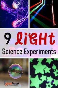 Five senses science experiments for kids to learn about light and the sense of seeing: reflection, prism, UV light, ... Fun STEM activities for science class, science fair, science camp, for kids… More Science Experiments For Preschoolers, Preschool Science Activities, Primary Science, Cool Science Experiments, Science Fair, Science Lessons, Science For Kids, Science Centers, Summer Science