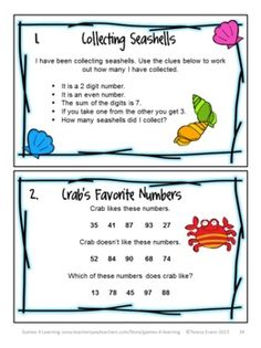 Some of the Summer math brain teasers from Summer Math Games, Puzzles and Brain Teasers from Games 4 Learning. It is loaded with Summer math fun. $