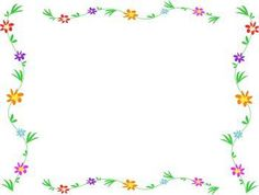 free simple flower page border design