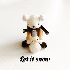 Friends forever:ずっとともだち #クイリング #ペーパークイリング # ハンドメイド#ペーパークラフト #くま #雪だるま #quilling #paperquilling #papercraft #handmade #bear #snowman