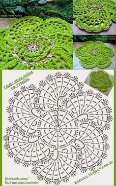 Green Doily with diagram