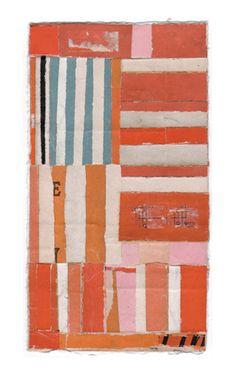 """Lisa Hochstein - salvaged paper - 3.5 x 6.5"""""""