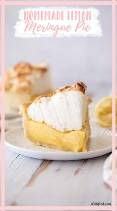This creamy lemon meringue pie is made with a butter pie crust that's par baked, then filled with a creamy lemon filling made with cream and milk and fresh lemon, and it's topped with marshmallow meringue toasted to perfection. Homemade Cheesecake, Homemade Desserts, Best Dessert Recipes, Homemade Cakes, Pie Recipes, Brunch Recipes, Easy Recipes, Citrus Recipes, Orange Recipes