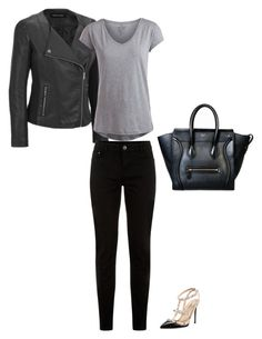 Untitled #136 by selena0217 on Polyvore featuring Pieces, Valentino and CÉLINE