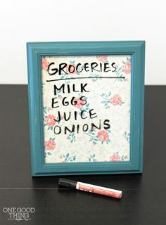 Learn how to make a super easy DIY dry erase board (plus a DIY chalk board!)