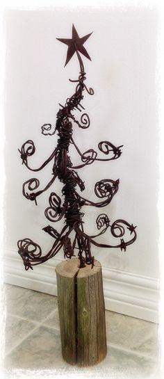 Barbwire Christmas tree
