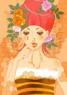 Queen Bee Girly art
