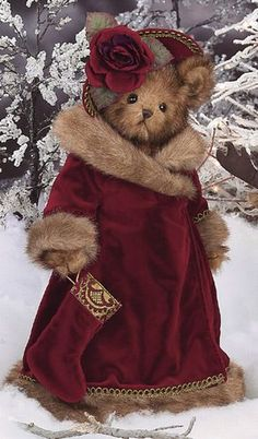 ☃ ღ Noël Bearington Bears Vintage Teddy Bears, My Teddy Bear, Cute Teddy Bears, Bear Toy, Ours Boyds, Christmas Teddy Bear, Christmas Christmas, Christmas Stocking, Christmas Ornaments