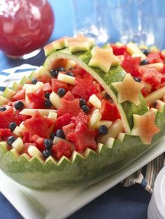 ‪#‎RindTime‬: Watermelon rinds make the ultimate serving bowl for fruit salads and salsas!