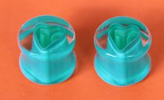 3/4 inch hand blown glass ear plugs by RippleActive on Etsy, $75.00