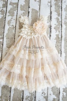 Lace Flower Girl dress Flower Girl Dresses by PoshPeanutKids