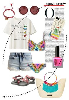 Let's get to the beach ! by invisible9988 on Polyvore featuring polyvore, fashion, style, Uniqlo, even&odd, Mara Hoffman, Chaco, Caffé, La Môme Bijou, Kate Spade, The Row and PolyvoreWishlist