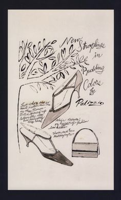 TheHistorialist: 1955   ANDY WARHOL FOR PALIZZIO   PART 1/2 ㊗️ART AND IDEAS : More At FOSTERGINGER @ Pinterest  ㊙️㊗️