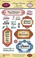 Just Rite - Clear Stamp - Antique Christmas Tags One
