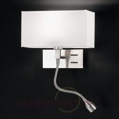 Elegante Wandleuchte Emilian mit LED-Leselampe 7540520